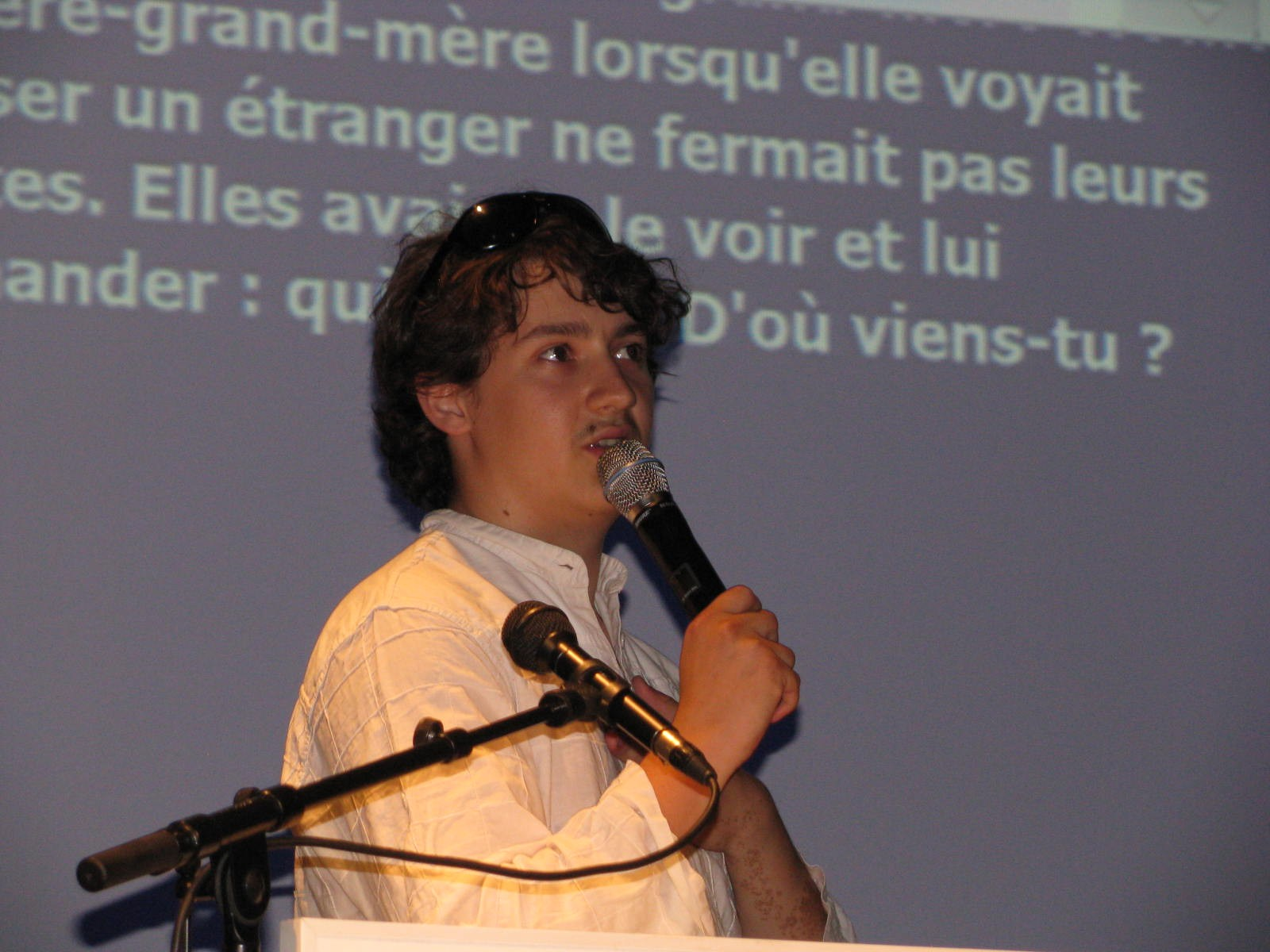 photo de Clement pendant son discours
